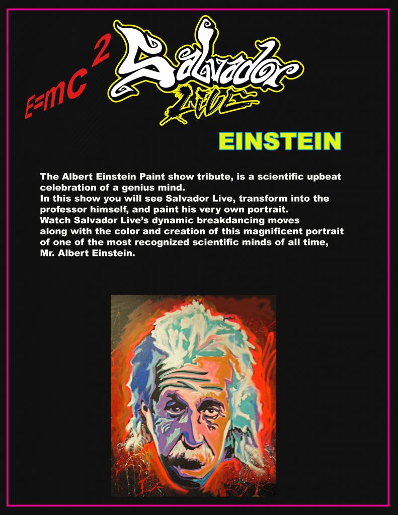 Salvador Live Paints The Einstein Show