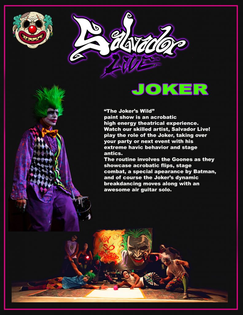 Salvador Live Paints The Joker Show