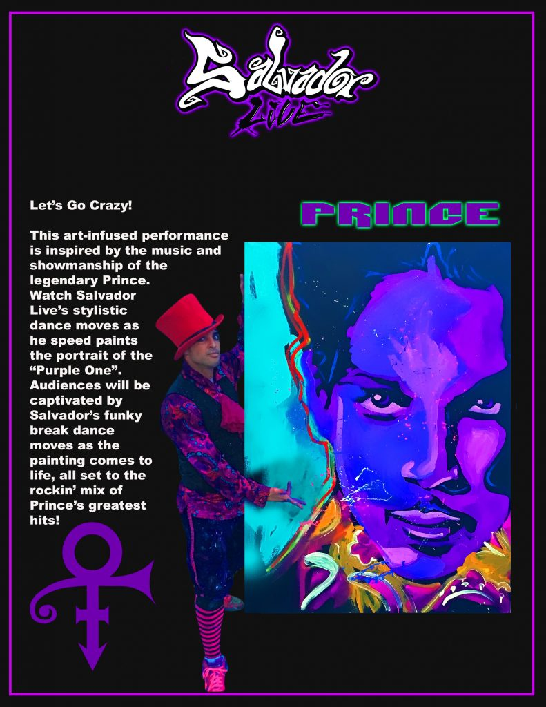 Salvador Live Paints Prince Show