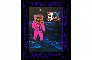 Man On The Moon - Salvador Live Paint Show Gallery