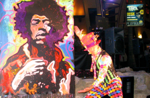 Salvador Live Speed Painter Jimi Hendrix